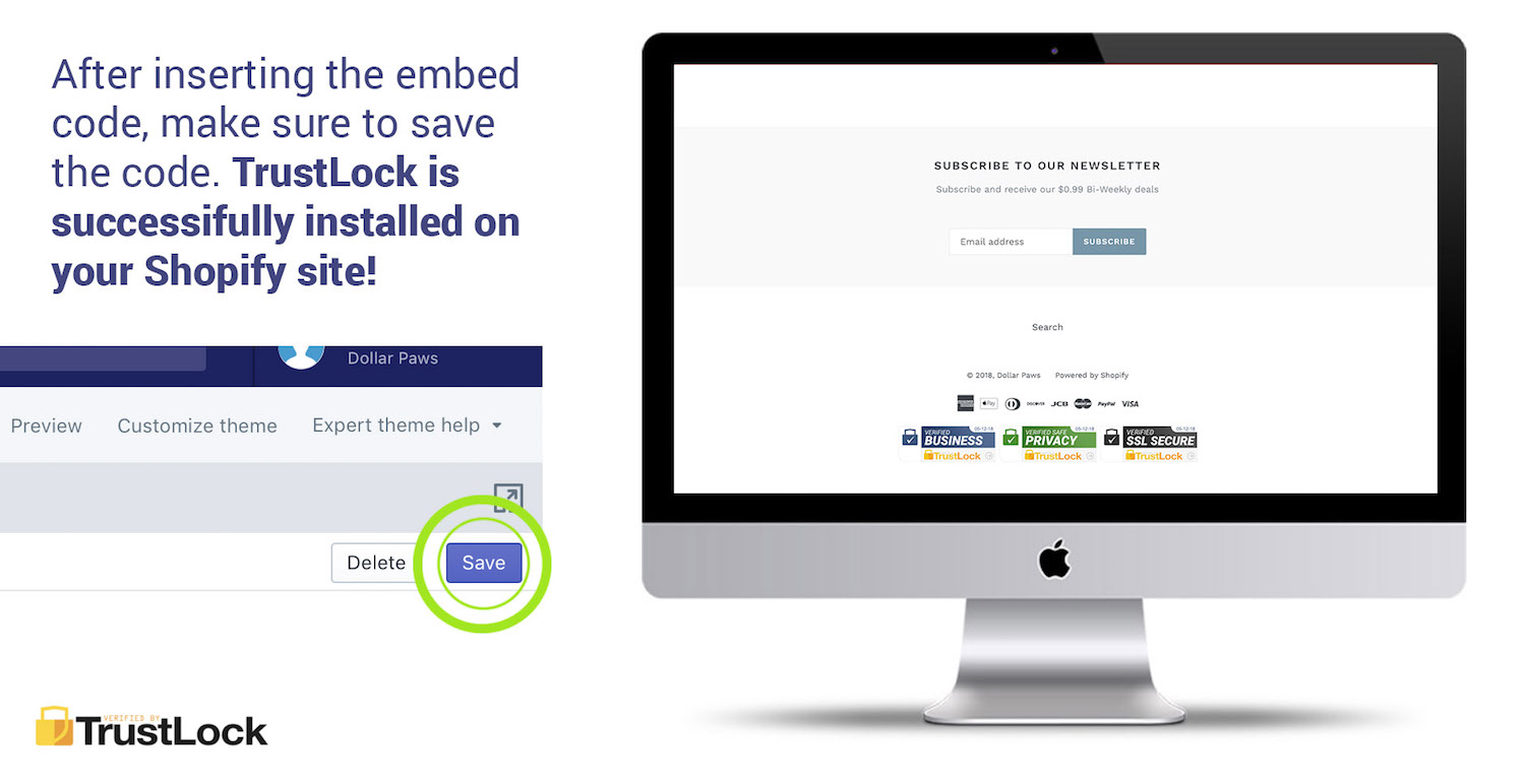 Install TrustLock Trust Badge Seals On Shopify - Trust Lock