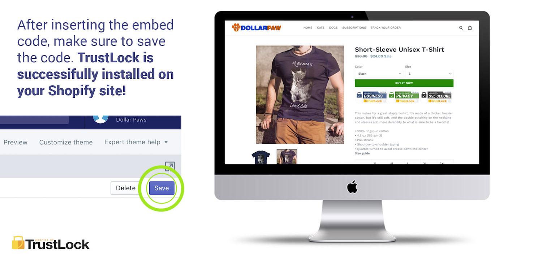 Install TrustLock Trust Badge Seals On Shopify - Trust Lock