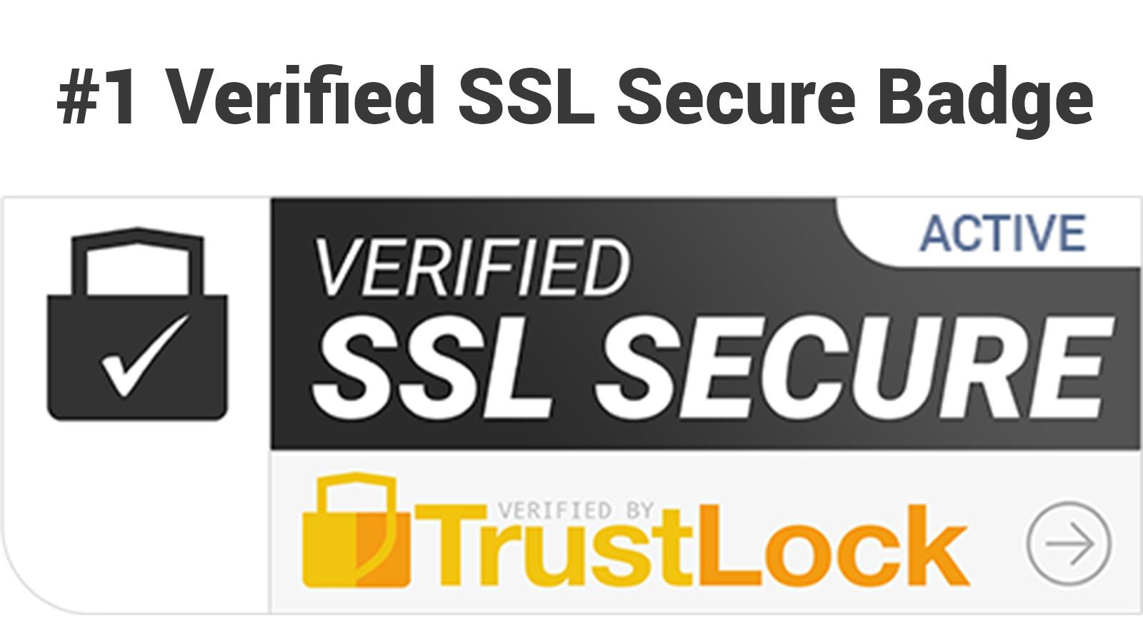 Verified SSL Secure Trust Badge - Trust Lock